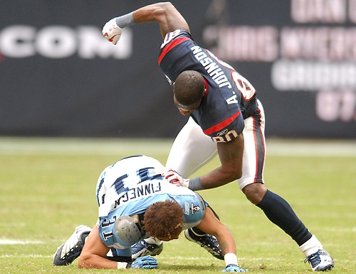 Andre Johnson and rented mule Cortland Finnegan