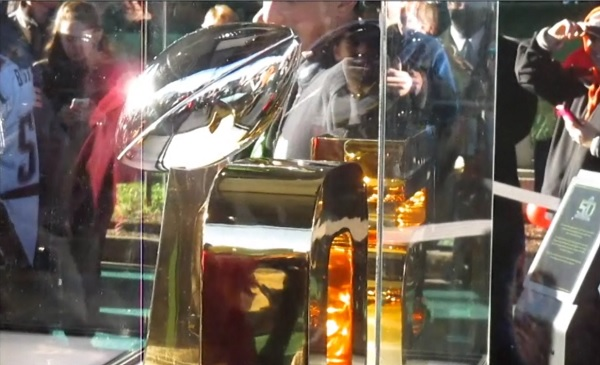 The actual Superbowl 50 trophy.