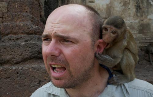 karl pilkington monkey